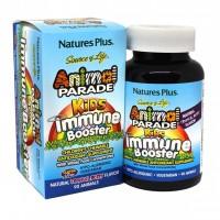 Вітаміни Nature's Plus Animal Parade Kids Immune Booster 90 таб Тропические ягоды