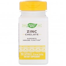 Хелатний цинк Nature's Way Zinc Chelate 30 мг 100 капсул