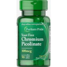 Chromium Picolinate Puritan's Pride 800 мкг Yeast Free 90 таблеток