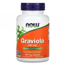 Гравиола, Now Foods, 500 мг, 100 капсул