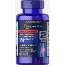 Хондропротектор Puritan's Pride Triple Strength Glucosamine Chondroitin & MSM Joint Soother 60 таблеток