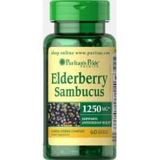 Екстракт бузини Puritan's Pride Elderberry Sambucus 1250 mg 60 капсул