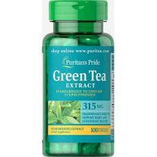 Корекція ваги Puritan's Pride Green Tea Standardized Extract 315 mg 100 капсул