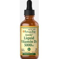 Рідкий вітамін Puritan's Pride Liquid Vitamin D3 5000 МЕ 59 мл