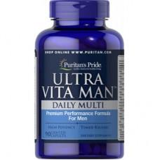 Вітаміни Puritan's Pride Ultra Vita Man 90 каплет
