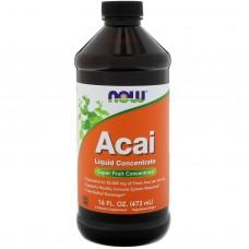 Натуральна добавка Now Foods Ягоди Асаї концентрований сік 473 мл