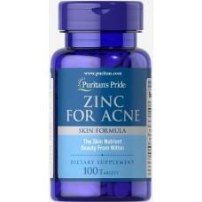 Вітаміни Puritan's Pride Zinc for Acne 100 таблеток