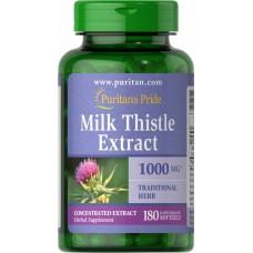 Розторопша Puritan's Pride Milk Thistle 4:1 Extract 1000 mg (Silymarin) 90 капсул