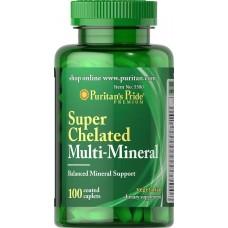 Мінерали Puritan's Pride Super Chelated Multi-Mineral 100 таблеток