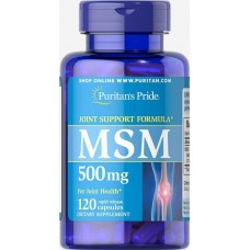 Сірка Харчова Puritan's Pride MSM 500 mg, 120 caps