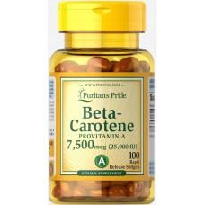 Вітаміни Puritan's Pride Beta-Carotene 25,000 IU 100 капсул