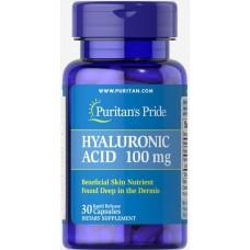 Гіалуронова кислота, Hyaluronic Acid, Puritan's Pride, 100 мг, 30 капсул