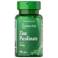 Мінерали Puritan's Pride Zinc Picolinate 25 mg 100 таблеток