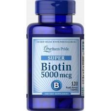 Вітаміни Puritan's Pride Super Biotin 5000 Caps 120 капсул