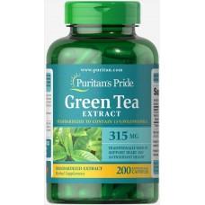 Корекція ваги Puritan's Pride Green Tea Standardized Extract 315 mg 200 капсул