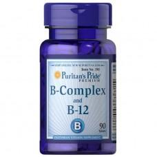 Вітаміни Puritan's Pride Vitamin B-Complex and B-12 90 таблеток