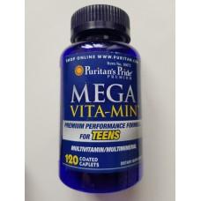 Мультивітаміни Puritan's Pride для підлітків Mega Vita Min Multivitamins for Teens 120 капсул
