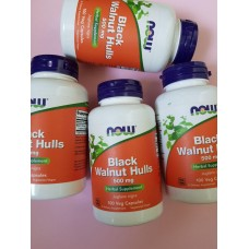 Натуральна добавка Now Foods Black Walnut Hulls 500 mg 100 капсул