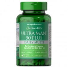 Вітаміни Puritan's Pride Ultra Man 50 Plus 60 каплет