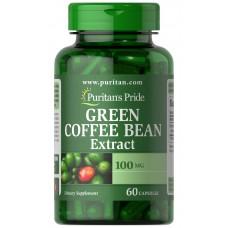 GREEN COFFEE BEAN EXTRACT, ЕКСТРАКТ ЗЕЛЕНОГО КАВА 100 MG (60 КАПС.)