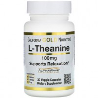 Амінокислота L-Теанин California Gold Nutrition L-Theanine 100 мг 30 капсул