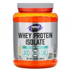 Ізолят сироваткового білка, зі смаком натуральної ванілі, Whey Protein Isolate, Now Foods, 1.8 фунтів (816 г)