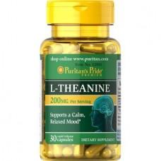 Л-ТІАНІН, L-Theanine, Puritan's Pride, 200 мг, 30 капсул