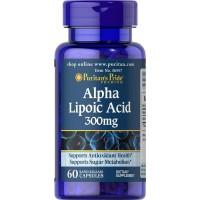 Альфа-липоевая кислота Puritan's Pride Alpha Lipoic Acid 300 мг 60 капсул