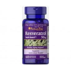 Спеціальний продукт Puritan's Pride Resveratrol 50 mg 60 капсул