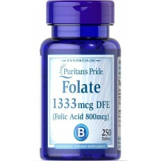 Фолієва кислота, Folic Acid, Puritan's Pride, 800 мкг, 250 таблеток