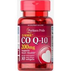 Коензим Puritan's Pride Q-SORB Co Q-10 200 mg 30 капсул