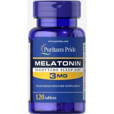 Мелатонін, Melatonin, Puritan's Pride, 3 мг, 120 таблеток