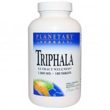 Трифала, здоров'я шлунково-кишкового тракту, Planetary Herbals, 1,000 мг, 180 таблеток